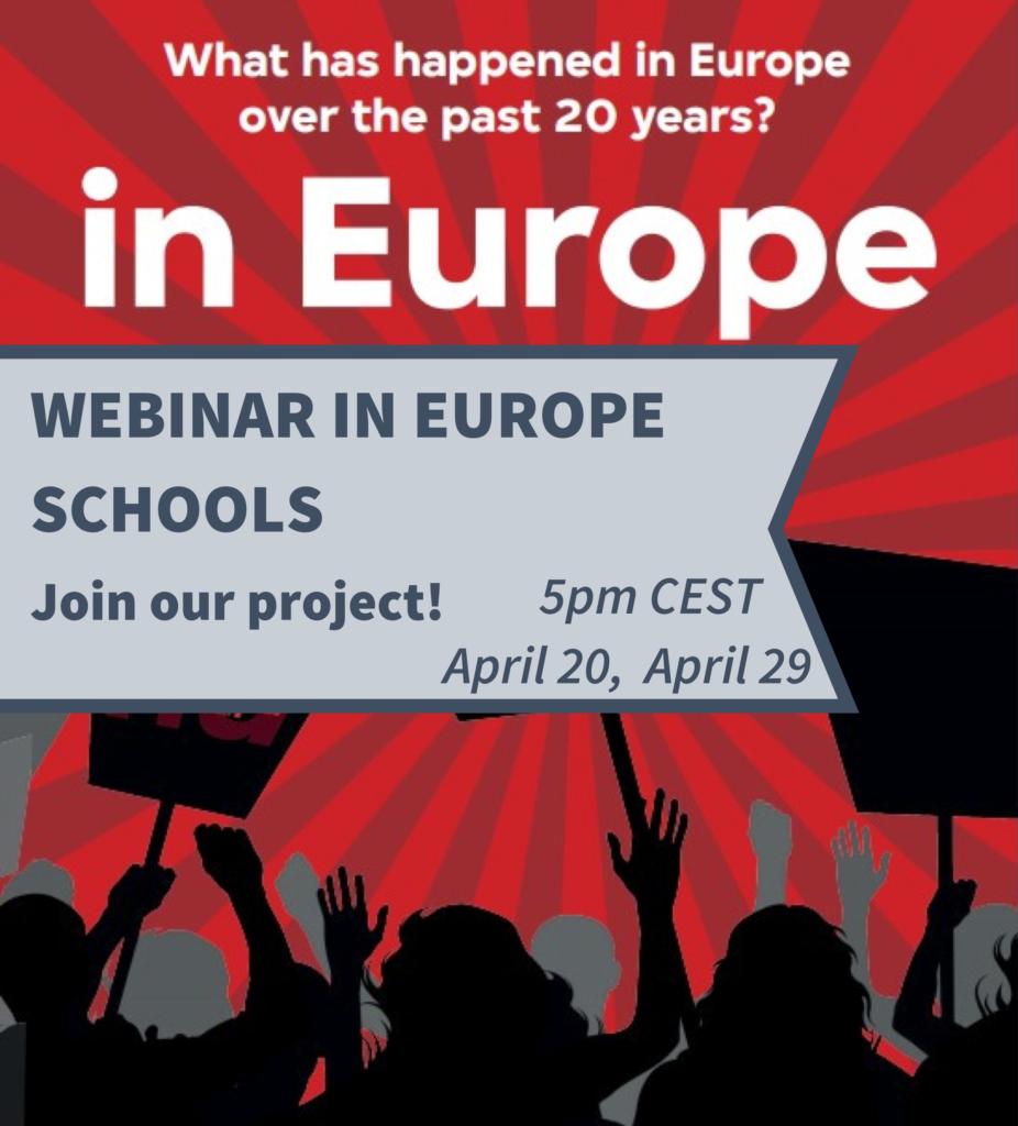 WEBINAR In Europe Schools: A Unique Exchange Project for European Schools