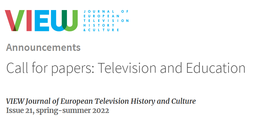 Call for Papers: Television and Education